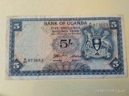 5 Shillings 1966 - Uganda