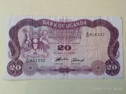 20 Shillings 1966 - Uganda