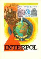MONACO CARTE MAXIMUM  NUM.YVERT 966 INTERPOL - Maximumkarten (MC)