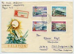 HUNGARY 1968 Lake Balaton Views Set On Registered Cover.  Michel 2417-20A - Hungary