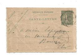 AMBULANT DE COSNE A BOURGES DU 3/10/1918 - Marcophilie (Lettres)
