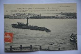 """CHALON-sur-SAONE- -inondations 24/25 Janvier 1910-le""""Perret-Morin"""" Se Portant Au Secours Inondes Des Granges Forestiers - Chalon Sur Saone"""