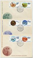 POLAND 1980.Scientific Expeditions On Three FDCs  Michel 2686-91 - FDC