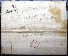 Cursive 31 MONTESQUIOU + P.P + C.D  --  GERS  --  1840  --  Indice 14 - 1801-1848: Precursors XIX