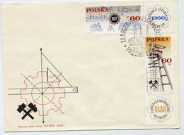 POLAND 1966 Technologists Congress On FDC.  Michel 1653-54 - FDC
