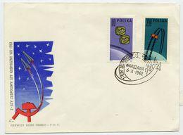 POLAND 1962 Vostok 3 Space Flight On FDC.  Michel 1350-51 - FDC
