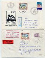 YUGOSLAVIA 1987-88 Airmail 500 And 1000 D. Perforated 13½:13¼ On Registered And Express Covers.  Michel 2098-99C - 1945-1992 Socialist Federal Republic Of Yugoslavia