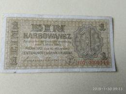 1 Karbowanez 1942 - Ukraine