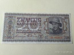 20 Karbowanez 1942 - Ucraina