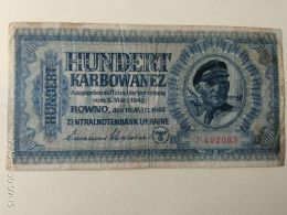 100 Karbowanez 1942 - Ucraina