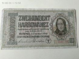 200 Karbowanez 1942 - Ucraina