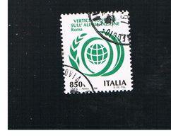 ITALIA REPUBBLICA  - UNIF. 2286  -   1996      VERTICE ALIMENTAZIONE      -            USATO - 6. 1946-.. Repubblica