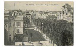 CPA TUNISIE TUNIS AVENUE JULES FERRY - Tunisia