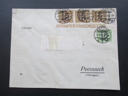 DR Infla 1923 Beleg Nr 297 / 302. Nr. 297 Als Oberrand / 3er Streifen Eckrandstück!! Erfurt - Poessneck - Deutschland