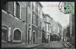 FOIX: Belle Vue Animée Dans La Rue Théophile Delcasse. Carte Obl En 1905 - Foix