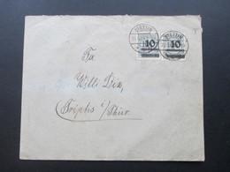 DR Infla 25.11.1923 Beleg MeF Nr. 337 Stettin - Triptis. Zagelow & Co, Stettin - Deutschland