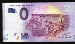 France - Billet Touristique 0 Euro 2018 N° 1892 (UEEE001892/5000) - PONT-CANAL DE BRIARE - EURO