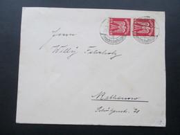 DR 1924 Flugpostmarke Holztaube Nr. 245 MeF Senkrechtes Paar! Berlin Friedrichsfelde - Rathenow. Briefmarkenhandlung - Briefe U. Dokumente