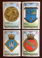 British Virgin Islands 1974 Interpex Naval Crests MNH - Britse Maagdeneilanden