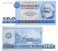 DDR 1975, 100 Mark, Staatsbank DDR, K. Marx, KN 7stellig, Geldschein, Banknote - 100 Mark