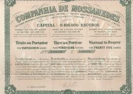 COMPAGNIE DE MOSSAMEDES (BRESIL) TITRE DE 25 ACTIONS - 1901 - Actions & Titres