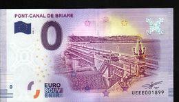 France - Billet Touristique 0 Euro 2018 N° 1899 (UEEE001899/5000) - PONT-CANAL DE BRIARE - EURO