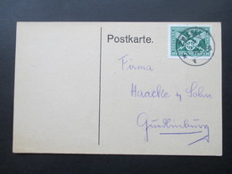 DR 1925 Nr. 370 EF Postkarte. Zwiesel. Theresienthaler Krystallglasfabrik - Briefe U. Dokumente