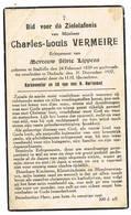Dudzele, Stalhille: 1937, Charles-Louis Vermeire ( 2 Scans) - Devotion Images