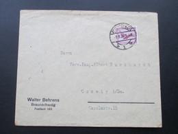 DR 1926 Flugpostmarke Nr. 379 EF Braunschweig - Coswig. Walter Behrens, Braunschweig. - Briefe U. Dokumente