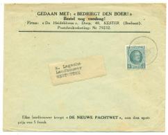 Cover Belgium Bedriegt Den Boer. Nieuwe Pachtwet 1929 Baesrode  Westoutre. COB 193. - Agriculture