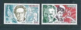 Monaco Timbres De 1989  N°1679 Et 1680  Neufs  ** - Nuovi