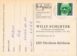27323. Tarjeta Privada LEER (Alemania Federal) 1981. Stamp Wilhem Raabe - [7] República Federal
