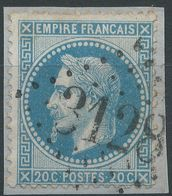 Lot N°40062   N°29A, Oblit GC 3128 Ribemont, Aisne (2), Ind 4 - 1863-1870 Napoleon III With Laurels