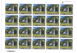 2017 LIECHTENSTEINISCHE POST Ein Bogen 15 Rappen Briefmarken (Kapelle Im Steg) **  ( 4 - Liechtenstein