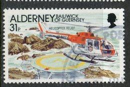 Alderney 1991 31p Helicopter Relief Issue #62 - Alderney