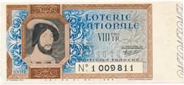 Billet Loterie Nationale 1939 - François 1er - Lottery Tickets