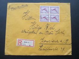 DR 1929 Flugpostmarken Nr. A 379 Als 4er Block! MeF. Einschreiben Berlin 9 471 C. - Briefe U. Dokumente
