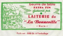 étiquette Fromage    Beurre De Table Extra Fin Laiterie De La Bonneville Eure 27 250grammes - Fromage