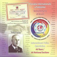 RO 2016-7110 (Bl.679) Membership In International Police Association, ROMANIA, S/S, MNH * - Police - Gendarmerie