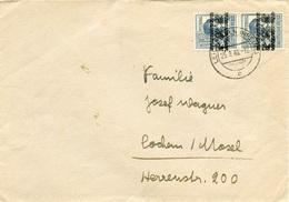 (k4775) Brief All. Bes. St. Leichlingen N. Cochem /Mosel - Zone AAS