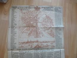 Carte Plan Dresden Allemagne Deutscland 1758 En L'état 44.5 X 72 Cm Environs - Cartes Géographiques