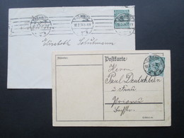 DR 1924 Korbdeckel Nr. 339 EF Auf Postkarte Und Beleg Als EF. Chemnitz / Dessau - Briefe U. Dokumente