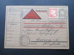 DR 1925 Nachnahmekarte MiF Nr. 355 / 373 Bund Deutscher Geflügelzüchter Ruhla - Briefe U. Dokumente
