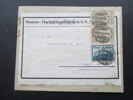 DR 1923 Infla Nr. 261 / 262 MiF Firmenbrief Hartsteingutfabrik. Dresden Blasewitz - Germany