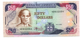 2008 Jamaica $50 Banknote - Jamaica