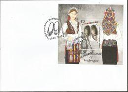 KOS 2017-13 FOLK COSTUMES OF MEDVEGJA, KOSOVO, 2FDC, MNH - Kosovo