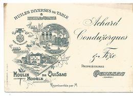 CARTE DE ACHARD CONDUZORGUES HUILES à QUISSAC GARD - Visiting Cards