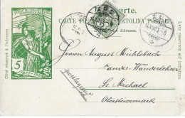 57 - 73 - Entier Postal UPU Avec Affranchissement Complàmentaire De Zug 1900 - Entiers Postaux