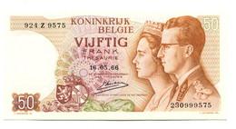 1966 Belgium 50 Francs Banknote - [ 2] 1831-... : Belgian Kingdom