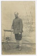 DA876 Carte Photo Card RPPC Guerre WW1 Militaire Prisonnier De Guerre Auguste Delemazure Lille Tampon Allemand Verso - War, Military